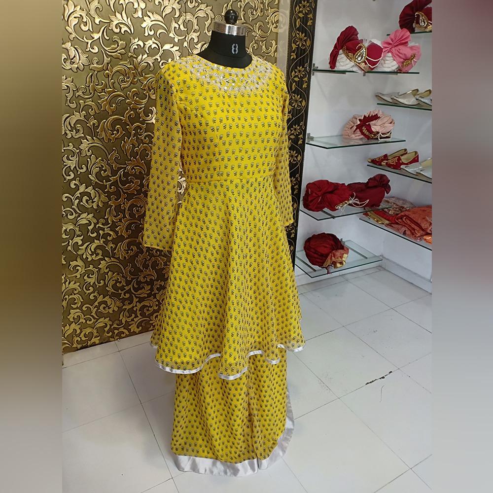 Parineeti Yellow Sharara (Semi-Stitch)